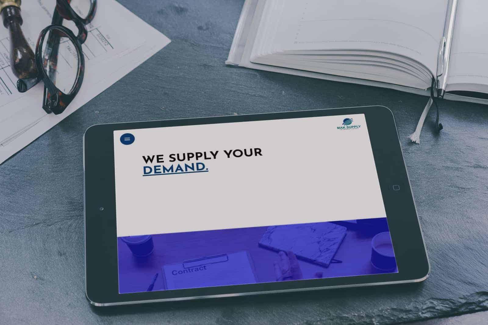 صورة لموقع شركة تجارية - شركة تصميم مواقع - تصميم موقع تجاري - تصميم موقع شركة